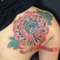 Pug in Flower - Tattooed by Joe Ayala