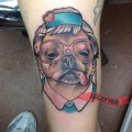 Sophia (from the Golden Girls) Pug - Tattooed by Tara Timoon at New Moon Tattoo, Canada