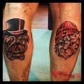Pug n Cat - Tattooed by Ben Hale
