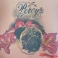 Percy the Pug - Tattooed by Emma Kierzek at Aurora Tattoo, UK
