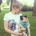 Pug Screams Tee (White) - Ekaterina from Russia