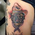 Cowboy Pug Tattoo Submitted by Miyata Hideharu, Japan