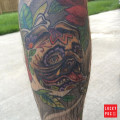 Leg Pug Tattoo, submitted by IG @kborrello1