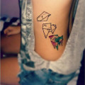 Origami Pug Tattoo on IG - @victoriaals