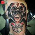 Dracula Pug Tattoo by Marcus Nati