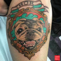 RIP Thor - Memorial pug tattoo Submitted by Angela Toth