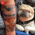 Pug & Pizza Tattoo on Felix
