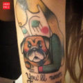 Arm Pug Tattoo on Clelia Fraioli, by Yle Vinil of Skin Fantasies