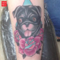 Wednesday the Pug Tattoo by Scott Sketo of Tattoo Paradise DC