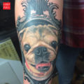 RIP April the Pug- Tattooed by Rob Forrer at Ace Tattoo & Piercing, Glendale, AZ