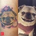 RIP Morgan the Pug - artist: Patrick Cornolo, Speakeasy tattoo Chicago
