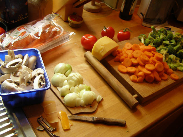 kitchen worktop - cooking more at home