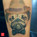 Pug tattoo by IG fddcitron