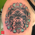 Arm pug tattoo submitted by Paris Cox