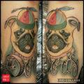 Doris the Pug Tattoo, by Jake Hicks of Rude Studios, Leeds