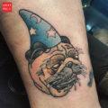 Pug Wizard tattoo by Jeff Bult