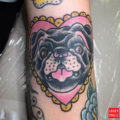 Raisin the Pug Tattoo by IG tuffasstats