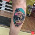 Nana the pug - by Marta Pari, done at Holy ink tattoos studio Firenze