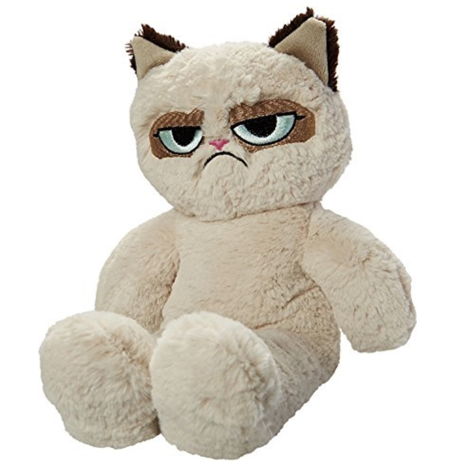 GrumpyCat Floppy Plush Dog Toy