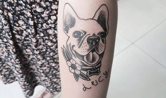 lucy frenchie tattoo
